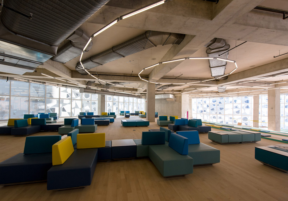 The sixth floor of the Student Learning Centre is referred to as the Beach. (Courtesy Ryerson University)