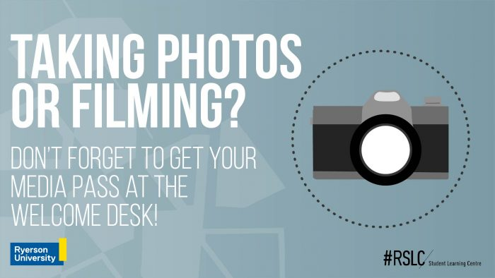 Filming or taking photos? Don't forget your media pass!