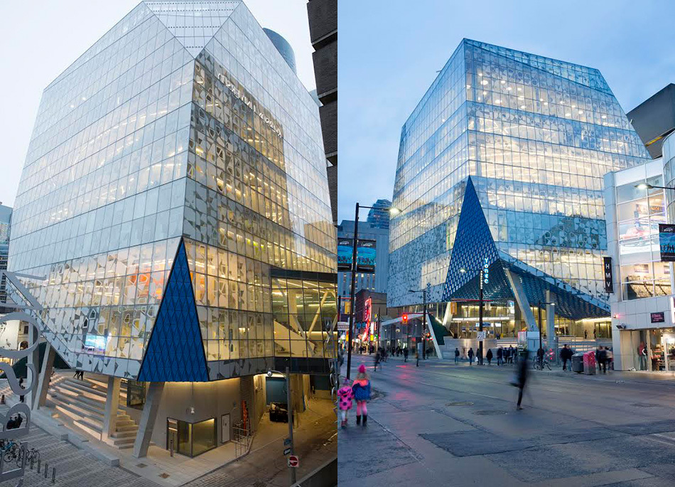 Located at the corner of downtown Toronto's Yonge and Gould streets, the SLC offers space for students to study, work and share ideas.