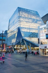Ryerson University's Student Learning Centre in Toronto won a Façade of the Year for 2015 award from the Society of Façade Engineering. Photo © Lorne Bridgeman