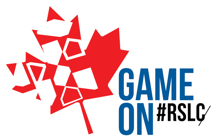"""Game on"". #RSLC. Red maple leaf in support of Team Canada"