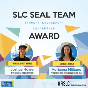 Inaugural winners, Josh and Adrianna, are featured on the SLC SEAL Team Award poster