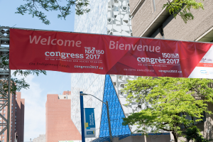 The Congress 2017 banner hung outside