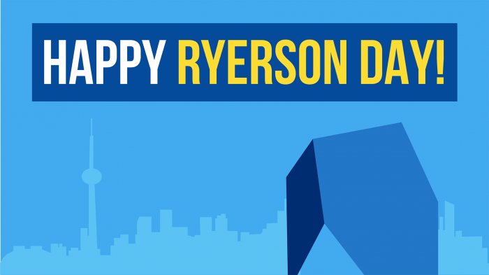 Happy Ryerson Day! The Toronto skyline showcasing the SLC.