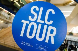 The SLC tour sign