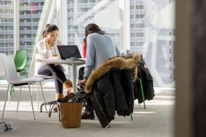 Students studying at the SLC